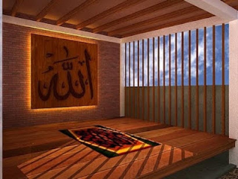 Denah Desain Mushola Dalam Rumah Modern » Gambar 74 Desain Ruang Mushola Dalam Rumah