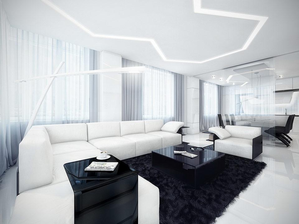 Denah Desain Ruang Kombinasi Hitam Putih » Gambar 167 » Dekorasi Rumah Dengan Perpaduan Hitam dan Putih