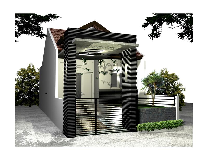 Struktur Desain Pagar Tembok Minimalis » Gambar 99 Tren Terkini Pagar Tembok Rumah Minimalis