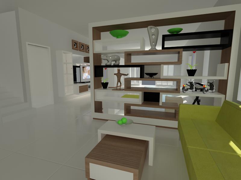 partisi ruangan final view1 » Lemari Penyekat Ruangan Minimalis Modern